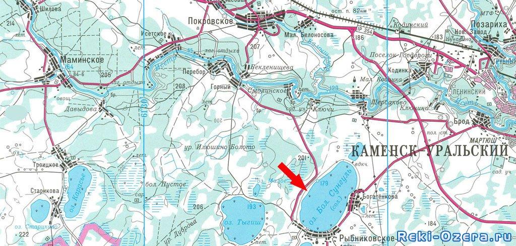 карта озер челябинской области для рыбаков