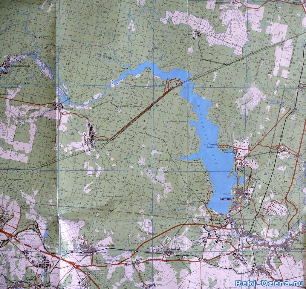карта плотины сосновая роща вечернее время